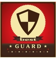 Protection shield sign concept style design vector image