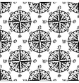 Vintage compass roses seamless pattern vector image