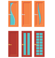 Set Of Doors For Rooms vector image