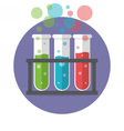 Three test tubes vector image