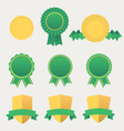 Heraldic emblem shields awards with ribbons vector image vector image