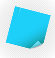 Blank paper note sheet isolated on transparent vector image vector image