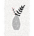 Concrete Vase with Branches vector image