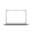 White laptop vector image vector image