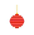 pixel art christmas tree ball flat vector image