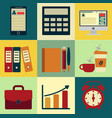 Business icons with background design of vector image
