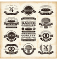 Vintage bakery labels set vector image