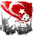 world cup turkey vector image