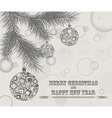 Merry Christmas design greeting card vector image