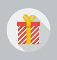 Christmas Flat Icon Gift box vector image