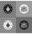 Craft beer and pizza seamless patterns and labels vector image