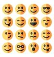 flat emotional emoji square faces icon vector image