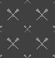 Lacrosse Sticks crossed icon sign Seamless pattern vector image