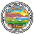 Kansas Seal vector image