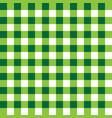 dark green and light green plaid fabric pattern vector image