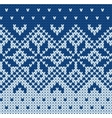 Knitted jacquard pattern vector image