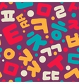 Korean alphabet pattern vector image