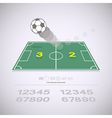 Live score on soccer yard vector image