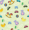 Seamless pattern with boys toys vector image