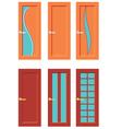 Set Of Doors For Rooms vector image