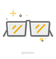 Thin line icons Glasses vector image