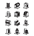 Metal containers icon set vector image vector image