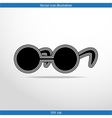 glasses web flat icon vector image