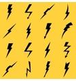 Lightning black icons set vector image