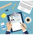 Concept of Resume Writing vector image
