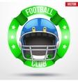 American Football Label vector image