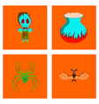 assembly flat halloween monster book vector image