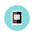 Ebook Flat Circle Icon vector image