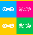 link sign four styles of icon on vector image
