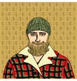 Lumberjack portrait vector image