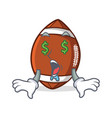money eye american football character cartoon vector image
