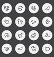 set of 16 editable animal outline icons includes vector image