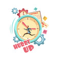 time control retro cartoon design vector image