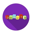 Toys donation icon in flat style isolated on white vector image