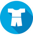 Tshirt with shorts icon Clothing symbol vector image
