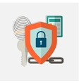 Web security concept icon vector image