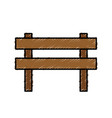 wooden barrier icon vector image