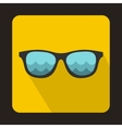 Sunglasses for surfing icon flat style vector image