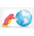 Funny Monster Globe vector image
