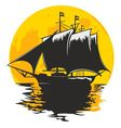 SAILING BOAT IN THE MOONLIGHT vector image vector image