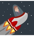 busines man Flat Rocket vector image