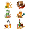 Draught Beer Set vector image