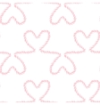 Seamless nautical romantic rope pattern vector image