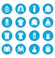 clothes icon blue vector image