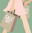 Sale and shopping vector image