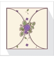 Greeting card with abstract roses vector image vector image